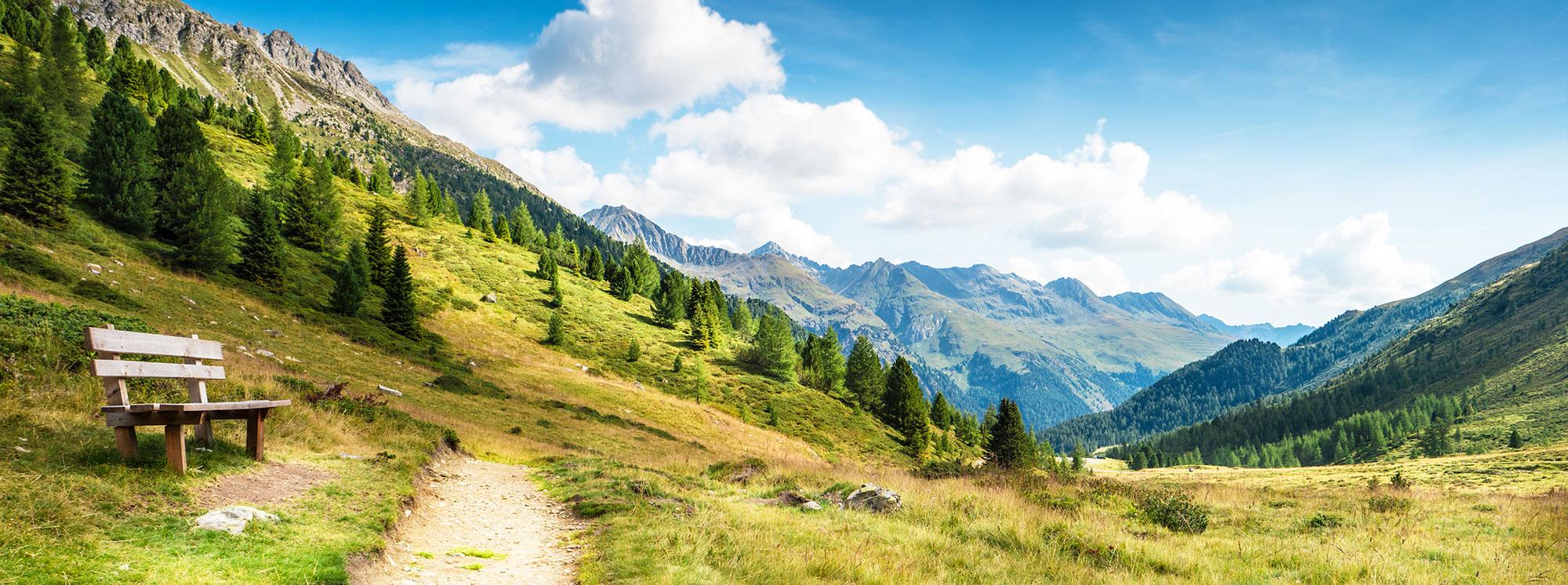 La beauté du paysage de l'Alpe d'Huez l'été
