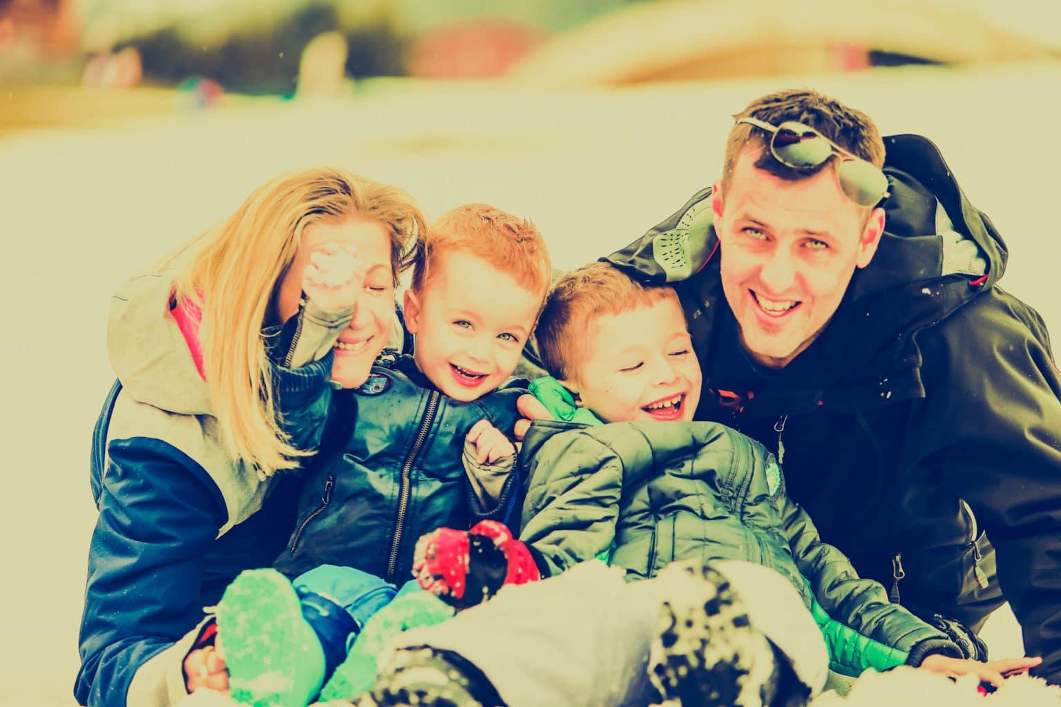 La familia Kieffer Spohr de vacaciones en la estación de l'Alpe d'Huez