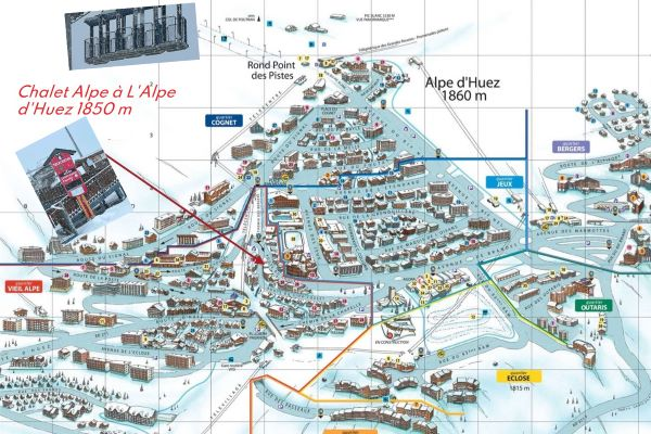 The plan of the chalet Alpe at l'Alpe d'Huez
