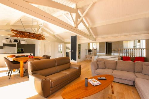 Spacious and comfortable living room of the Villa Mer in Sainte Marie de Ré on l'Île de Ré