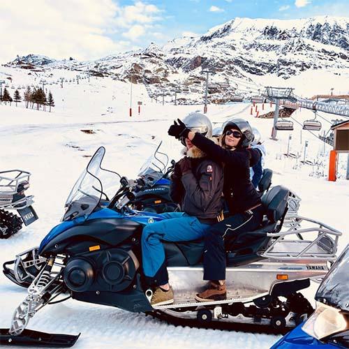 Motos de nieve en l'Alpe D'Huez