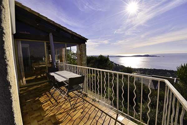 Terrase of Villa with 180° sea view