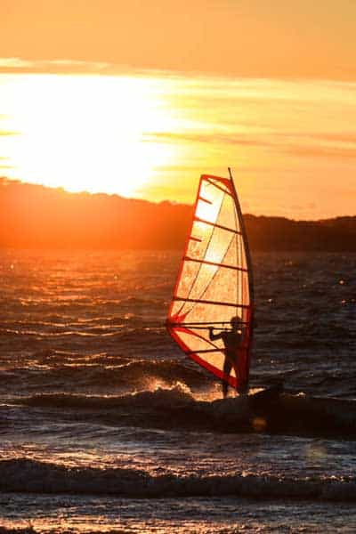 Windsurfing at the Almanarre in Carqueiranne